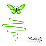 Background with butterfly Stock Image