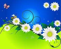 Background With Butterfly Spring Royalty Free Stock Photos