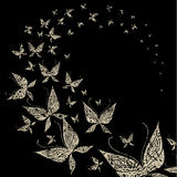Background with butterfly swarm
