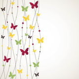 Background with Butterfly. Vector illustration Stock Image