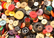 background buttons of clothes for sale at flea market Stock Images
