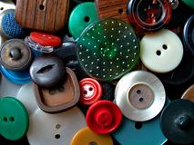 Background: buttons pile Stock Photos