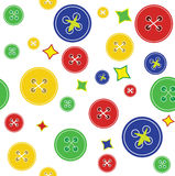 Background with buttons. Vector color background with buttons royalty free illustration