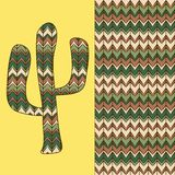 Background with cactus Stock Images