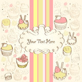 Background with cake. Background with a cake for signs stock illustration