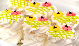 Background from cakes Stock Photography