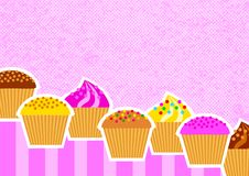 Background with cakes Royalty Free Stock Photos