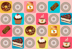 Background with cakes Royalty Free Stock Image