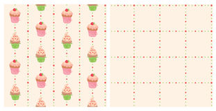Background with cakes Stock Photography