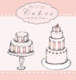 Background with cakes Stock Image