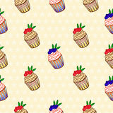 Background with cakes. Stock Photography
