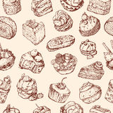 Background with cakes Stock Images