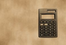 Background with calculator Stock Photography