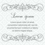 Background with calligraphic decorative elements. Decorative frame Royalty Free Stock Photography