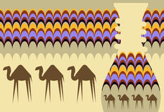 Background with camels Stock Photos