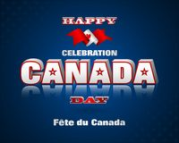 Background for Canada day celebration. Holiday design, background with 3d texts, maple leaf and national flag colors, for first of July, Canada National day Royalty Free Stock Photo