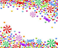 Background of candies. Background of bright colored candy Royalty Free Stock Photography