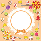 Background with candies frame Stock Photography