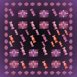 Background with candies. Purple background with candies and gift boxes royalty free illustration