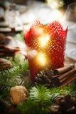 background candle christmas decoration gift golden xmas Εκλεκτική εστίαση Στοκ Εικόνες