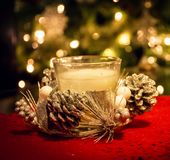 background candle christmas decoration gift golden xmas Στοκ εικόνα με δικαίωμα ελεύθερης χρήσης