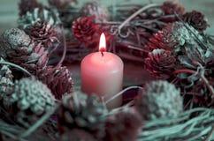 background candle christmas decoration gift golden xmas Στοκ φωτογραφία με δικαίωμα ελεύθερης χρήσης
