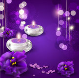 background with  candles Royalty Free Stock Images