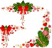 Background with Candy cane. Royalty Free Stock Images