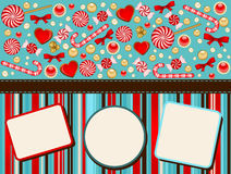 Background with Candy cane. Royalty Free Stock Photos