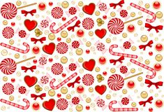 Background with Candy cane Royalty Free Stock Photography