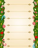 Background with Candy cane. Royalty Free Stock Photography