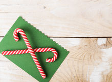 Background with candy canes Royalty Free Stock Photos