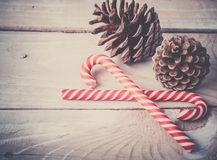 Background with candy canes Stock Image