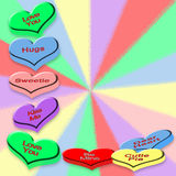 Background - Candy Hearts - Color Multi Background Royalty Free Stock Photos