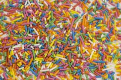 Background of candy sprinkles confetti stock photo