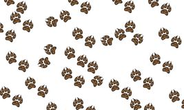 Background with canine prints. Vector art illustration stock illustration