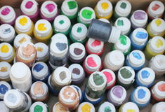 Background cans of paint Royalty Free Stock Photo