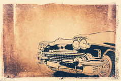 Background with a car Royalty Free Stock Images