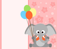 Background card with elephant Royalty Free Stock Image