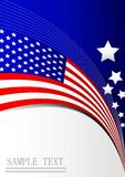Background card flag paper with star Royalty Free Stock Photo