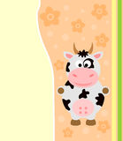 Background card with cow Stock Photos