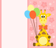 Background card with giraffe Royalty Free Stock Image