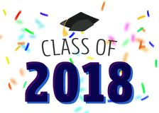 Hooray for Class of 2018 Royalty Free Stock Photo