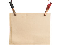 Background of cardboard and cables Royalty Free Stock Images