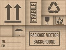 Background of cardboard package Royalty Free Stock Photos