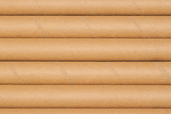 Background of cardboard tubes. Background of many cardboard tubes next to each other Stock Photography