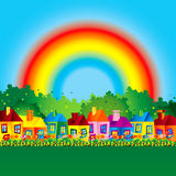 Background caricature house Royalty Free Stock Photography