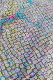 Background from carnaval street with confetti Stock Photo