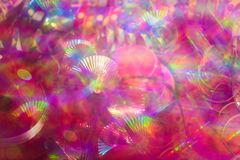 Background for carneval, pink background. Bokeh royalty free stock photography