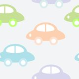 Background with cars. Childish seamless background with cars Stock Photography